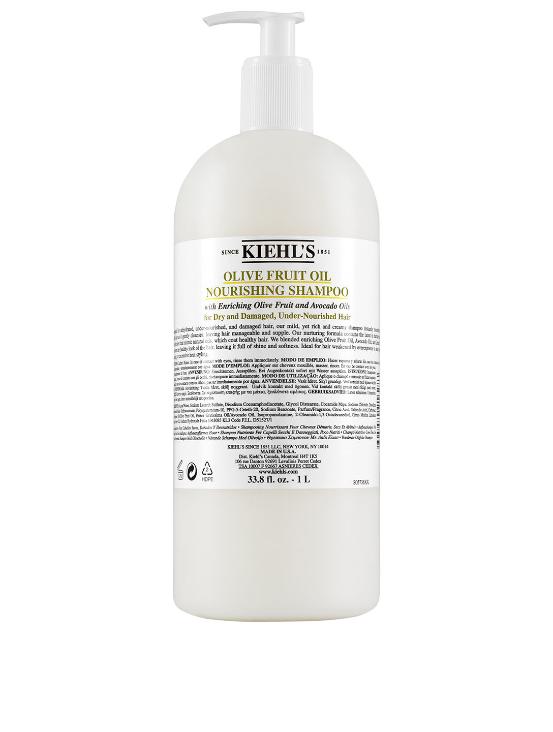 KIEHL'S Olive Fruit Oil Nourishing Shampoo Beauty