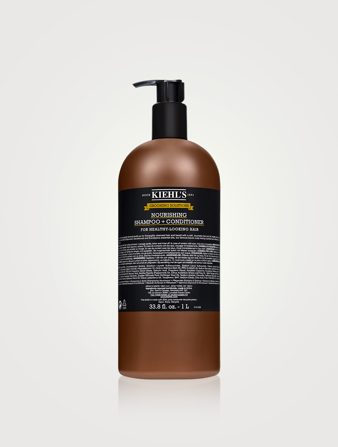 KIEHL'S Grooming Solutions Nourishing Shampoo + Conditioner Beauty