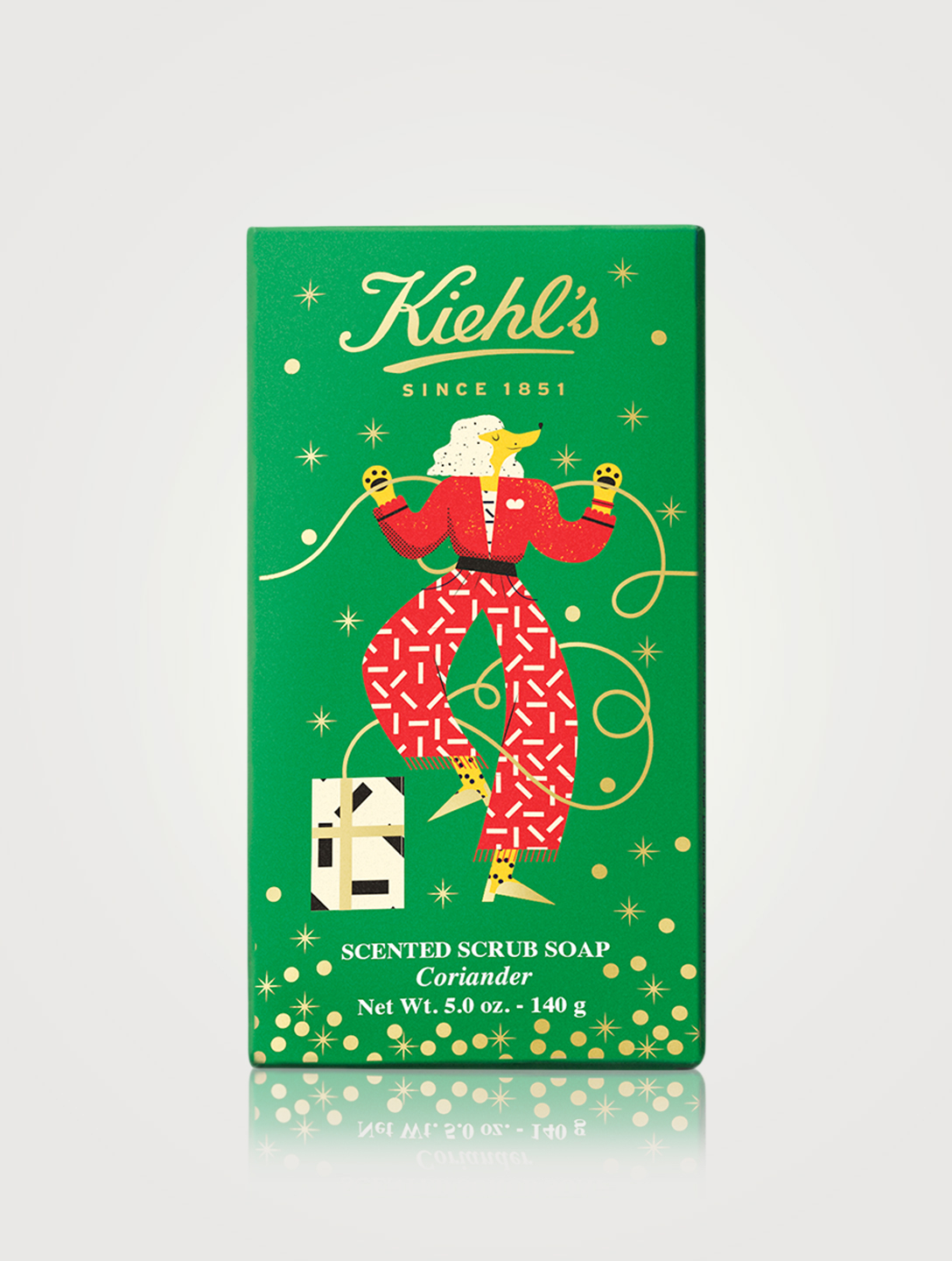 KIEHL'S Scented Coriander Scrub Bar Soap - Holiday Edition Beauty