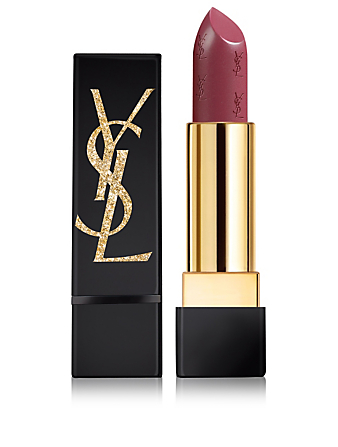 YVES SAINT LAURENT Rouge Pur Couture Lipstick - Gold Attraction Limited Edition Beauty Purple