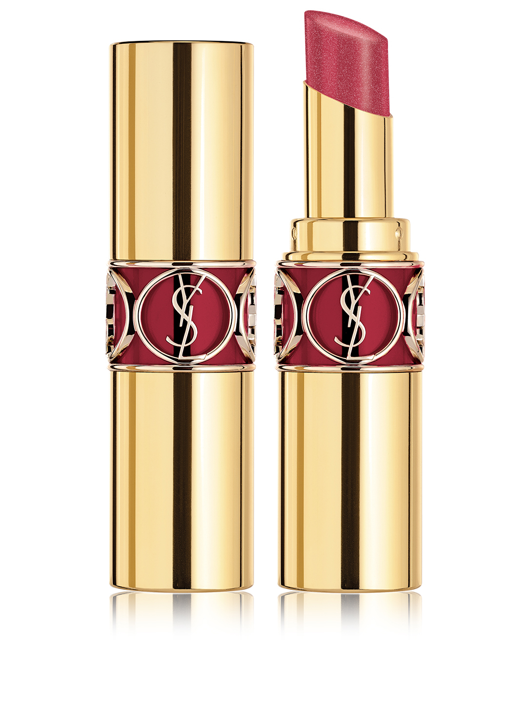 YVES SAINT LAURENT Rouge Volupté Shine Lipstick - Gold Attraction Limited Edition Beauty Purple