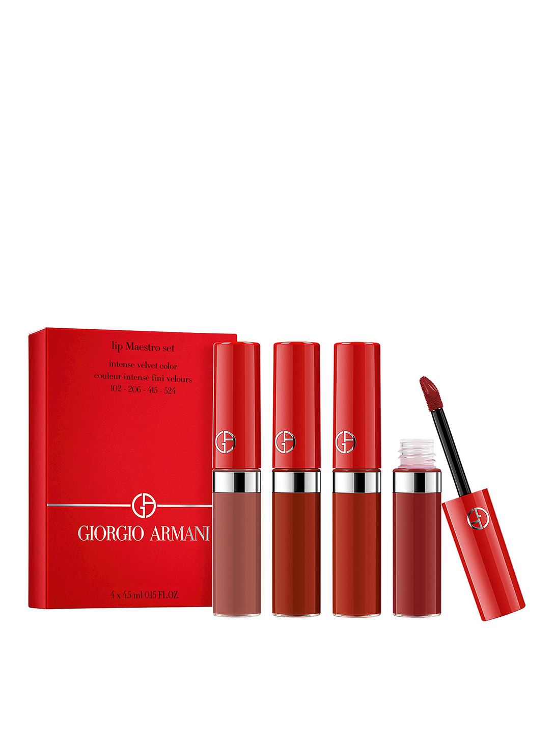 GIORGIO ARMANI Lip Maestro Velvet Matte Liquid Lipstick Set - Lunar New Year Beauty