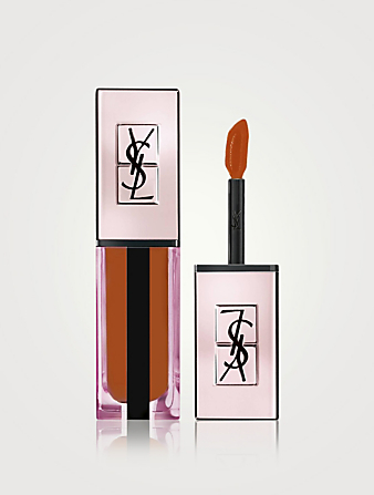 YVES SAINT LAURENT Water Stain Glow Glossy Lipstick- Illicit Nudes Collection Beauty Orange