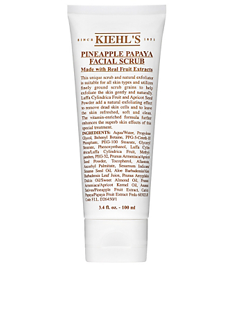 KIEHL'S Pineapple Papaya Facial Scrub Beauty