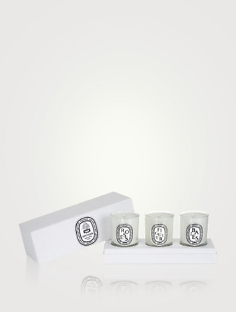 DIPTYQUE Set of Mini Candles (Baies, Figuier, Roses) Beauty