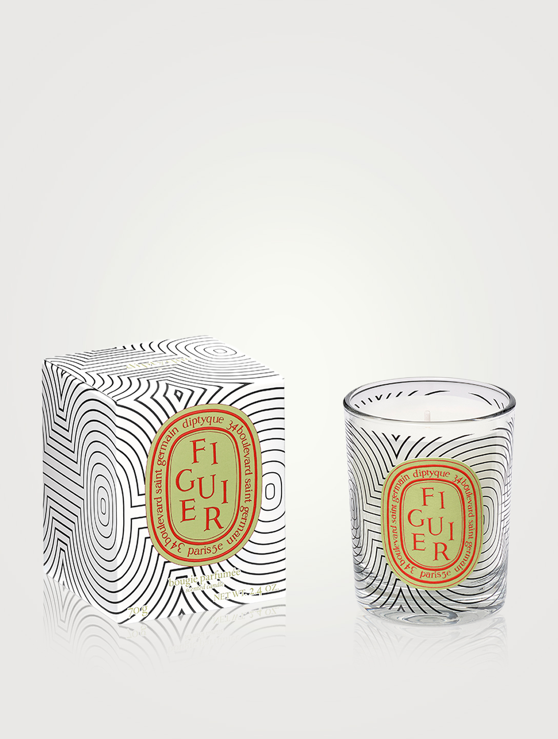 DIPTYQUE Figuier Dancing Ovals Candle - Limited Edition Beauty