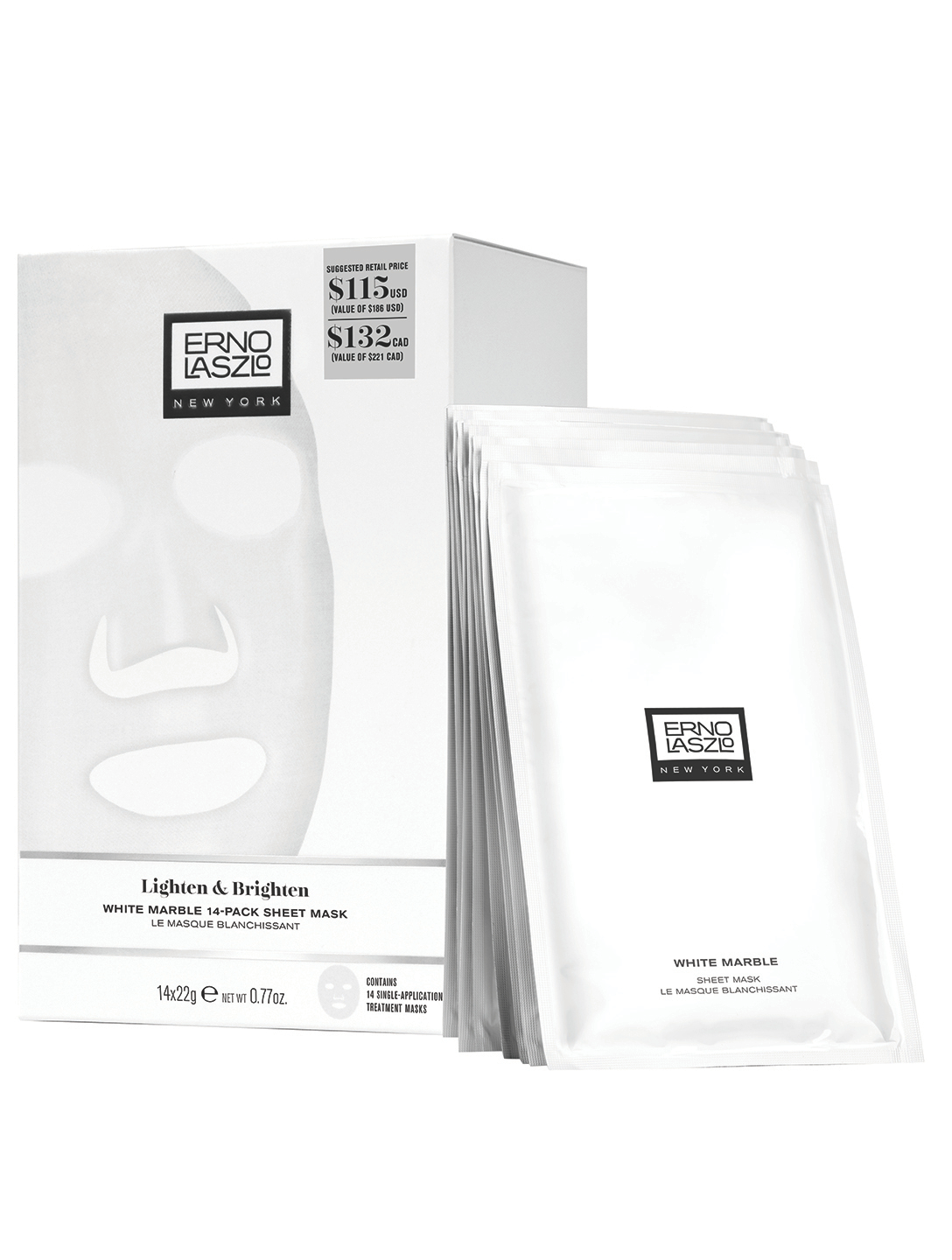 ERNO LASZLO White Marble Sheet Mask 14-Pack Set Beauty