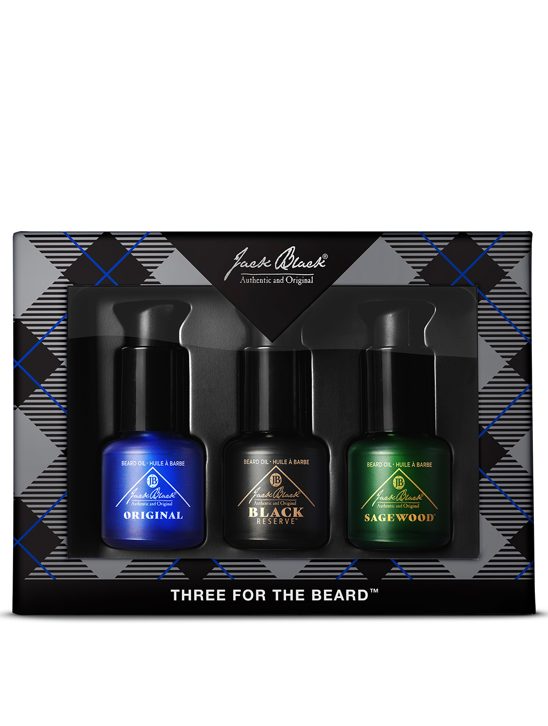 JACK BLACK Three for the Beard Set Beauty