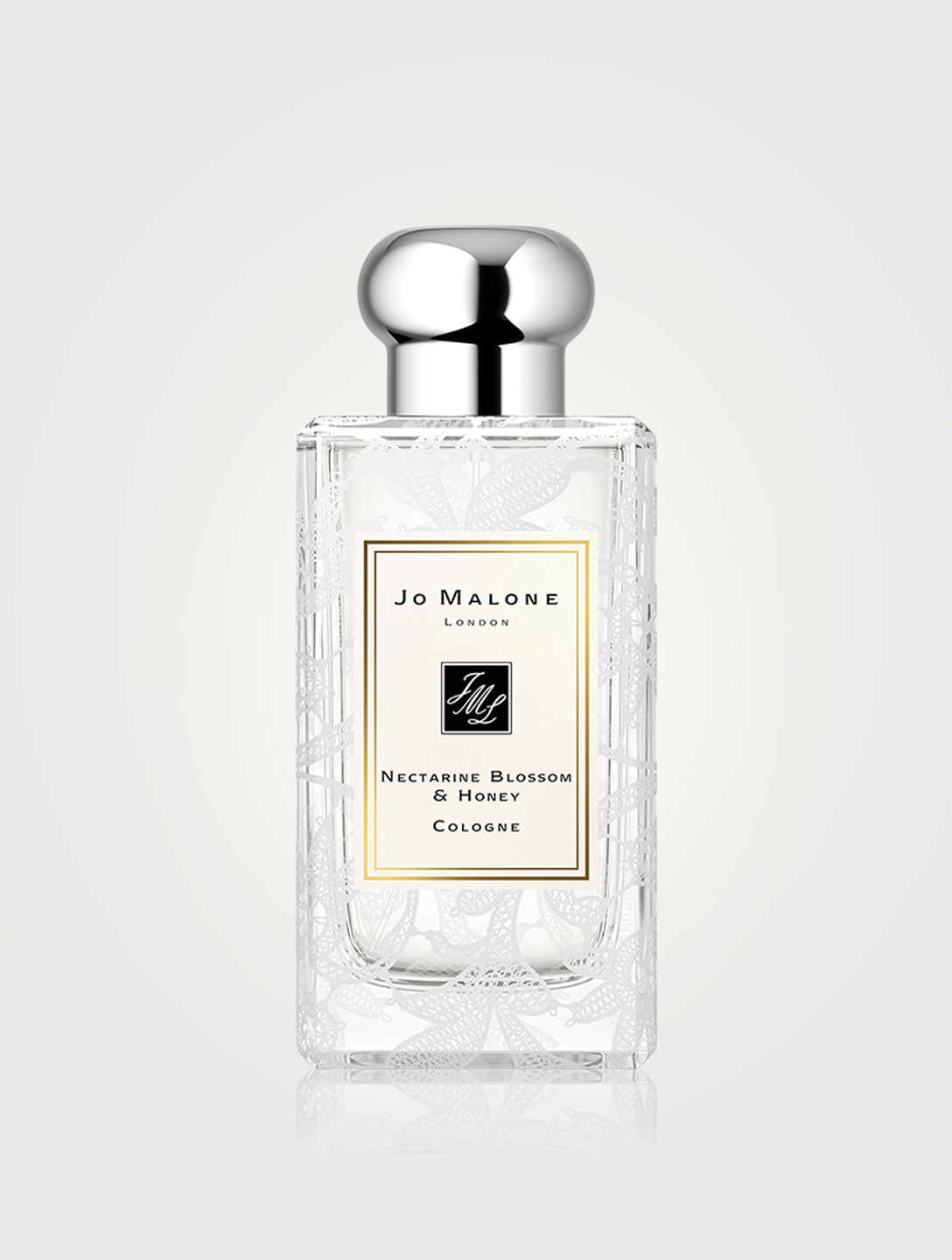 JO MALONE LONDON Nectarine Blossom & Honey Cologne with Daisy Leaf Lace Design Beauty