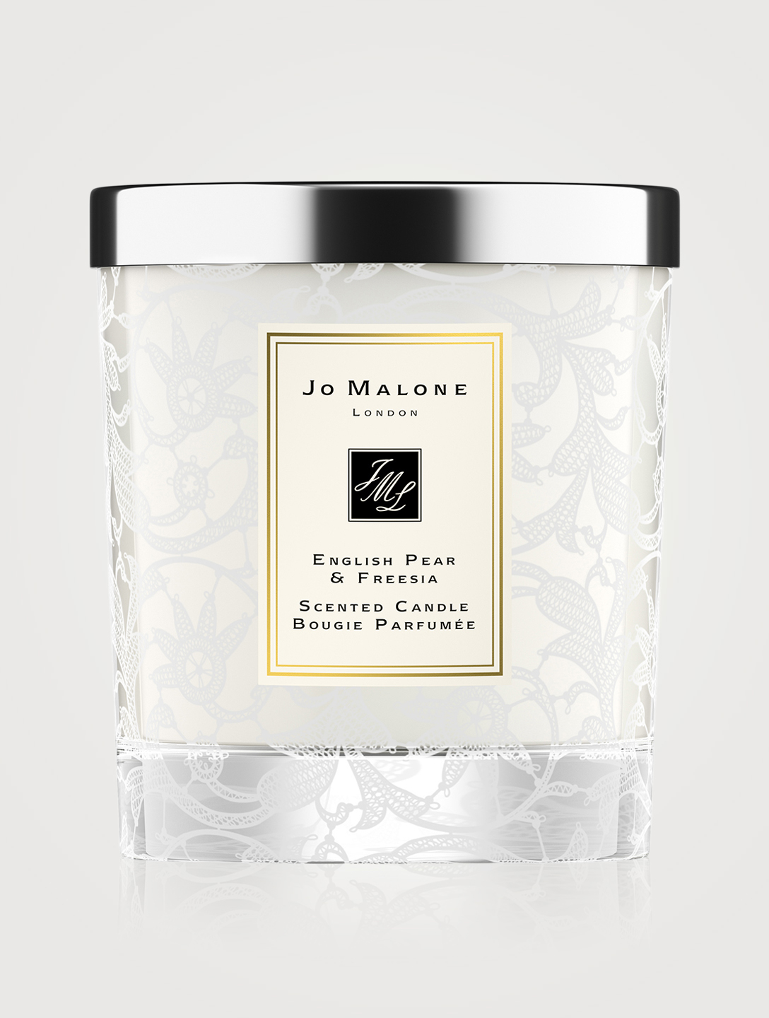 JO MALONE LONDON English Pear & Freesia Home Candle with Lace Design Beauty