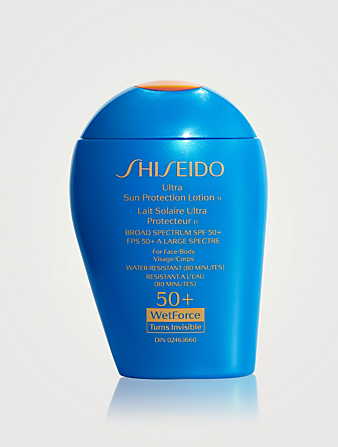 SHISEIDO Ultra Sun Protection Lotion - Broad Spectrum Sunscreen SPF 50+ WetForce Beauty