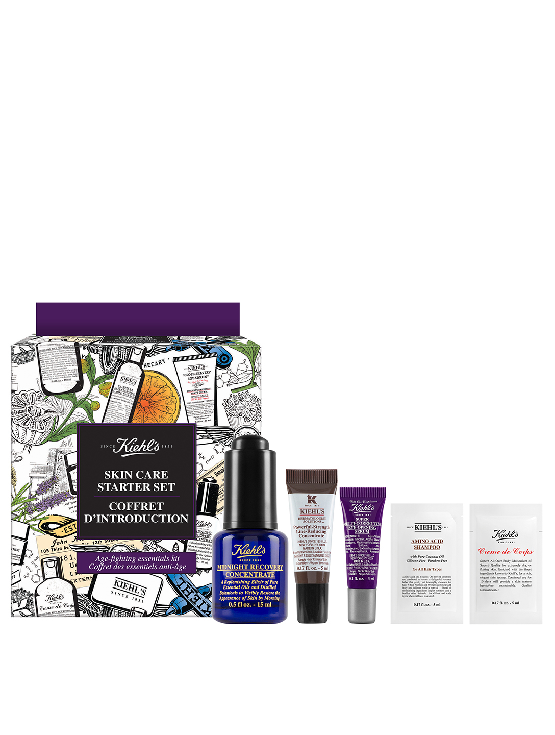 KIEHL'S Skin Care Starter Set - Anti-Aging Beauty