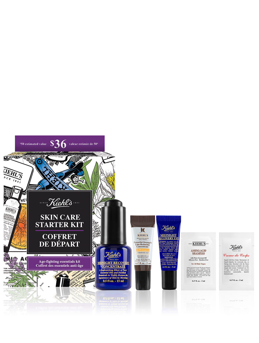 KIEHL'S Skin Care Starter Kit - Age-Fighting Essentials Kit Beauty