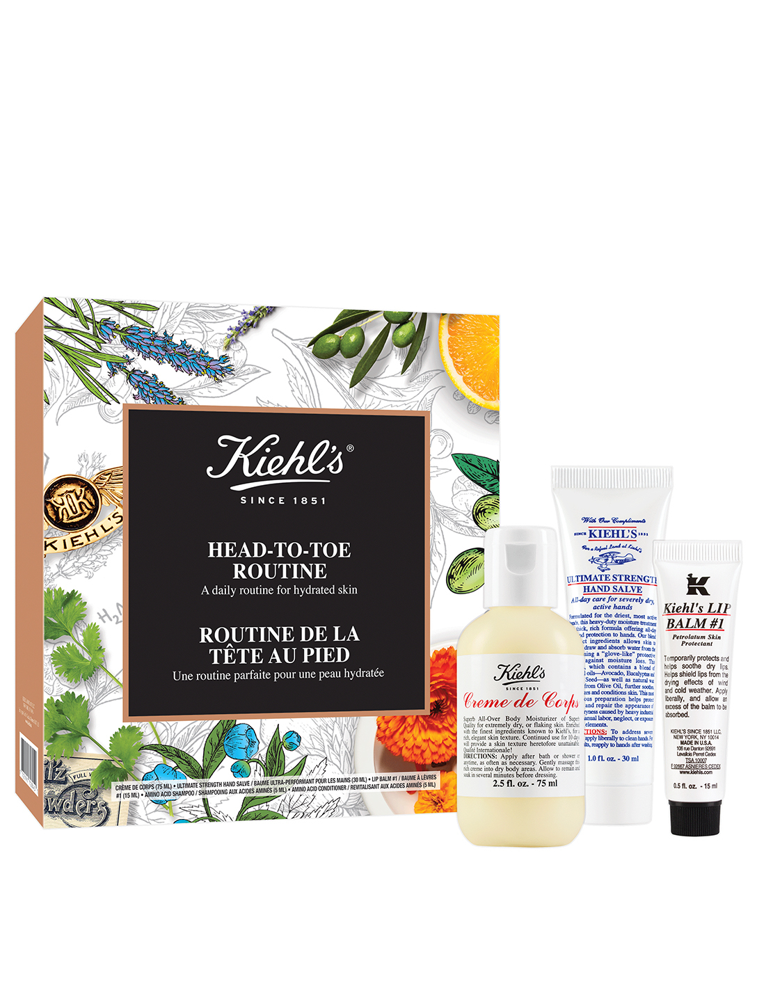 KIEHL'S Head-To-Toe Routine Beauty