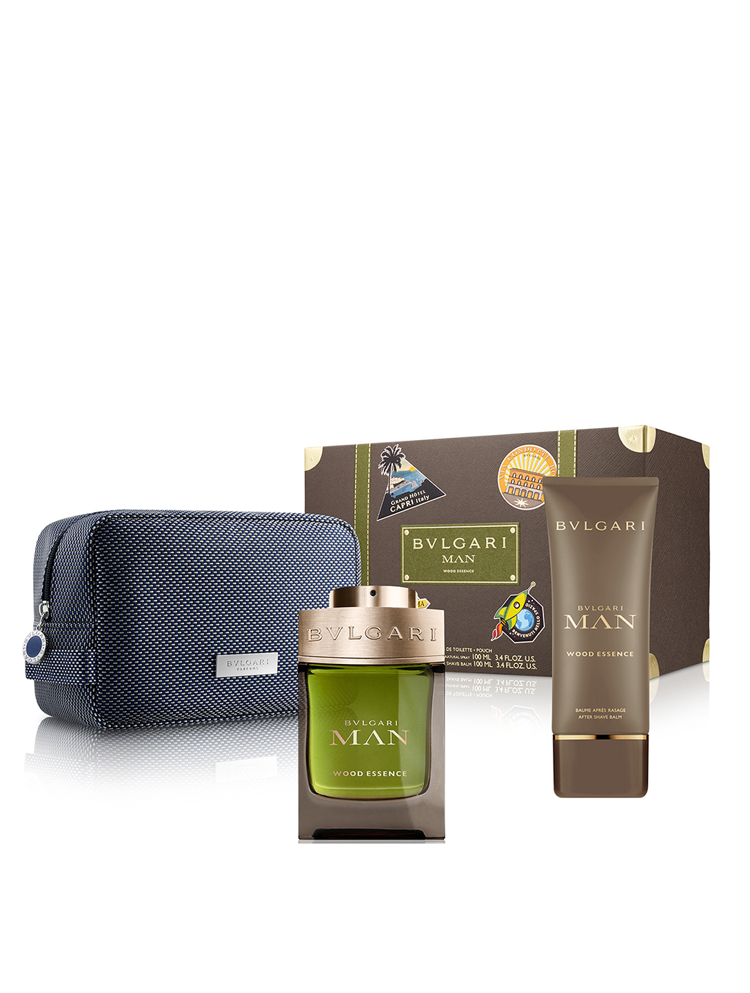 BVLGARI Wood Essence 3-Piece Gift Set Beauty