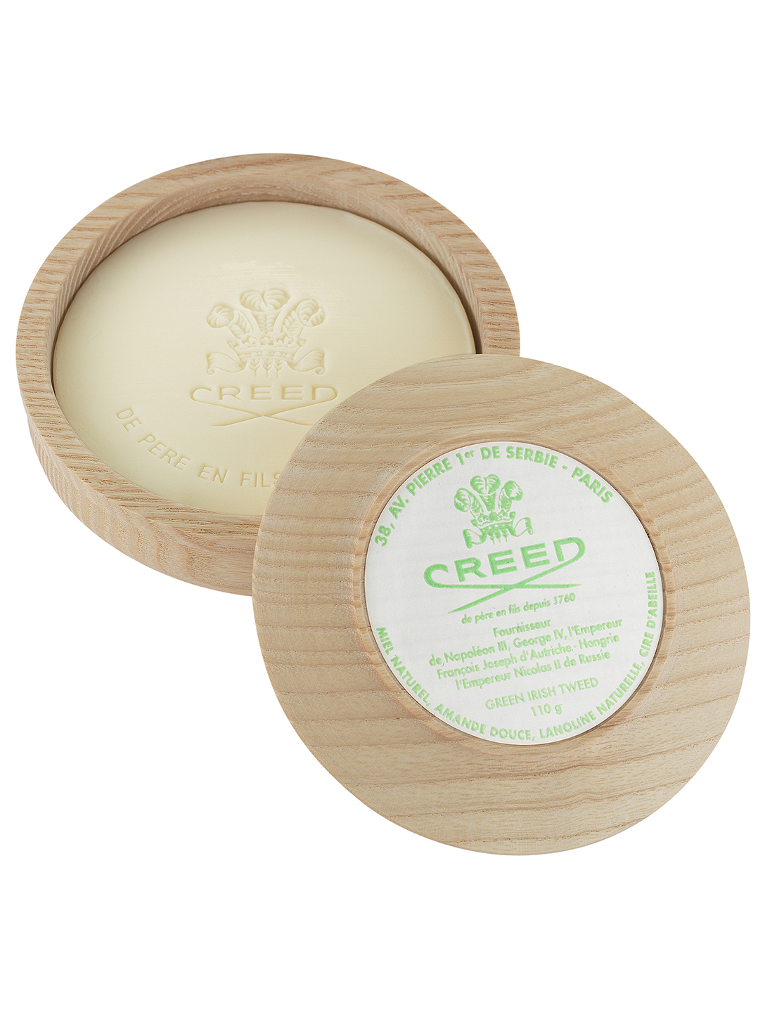 CREED Green Irish Tweed Shaving Soap & Bowl Designers