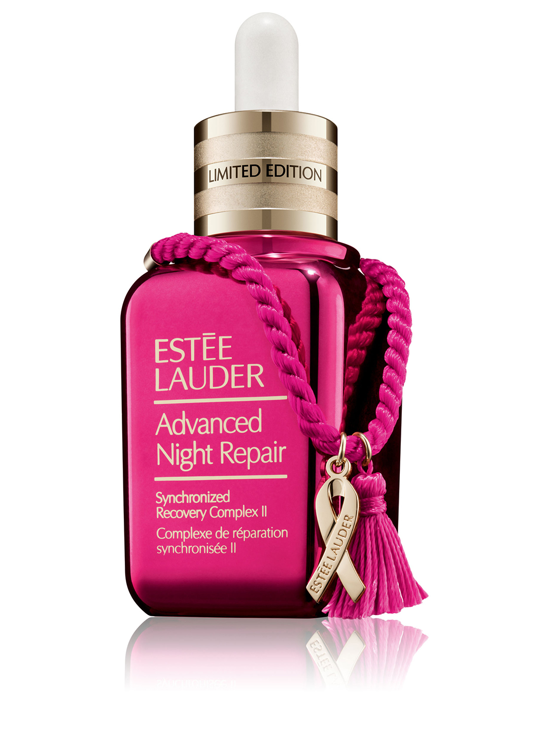 ESTÉE LAUDER Sérum Advanced Night Repair avec bracelet ruban rose, édition hors série à collectionner Beauté
