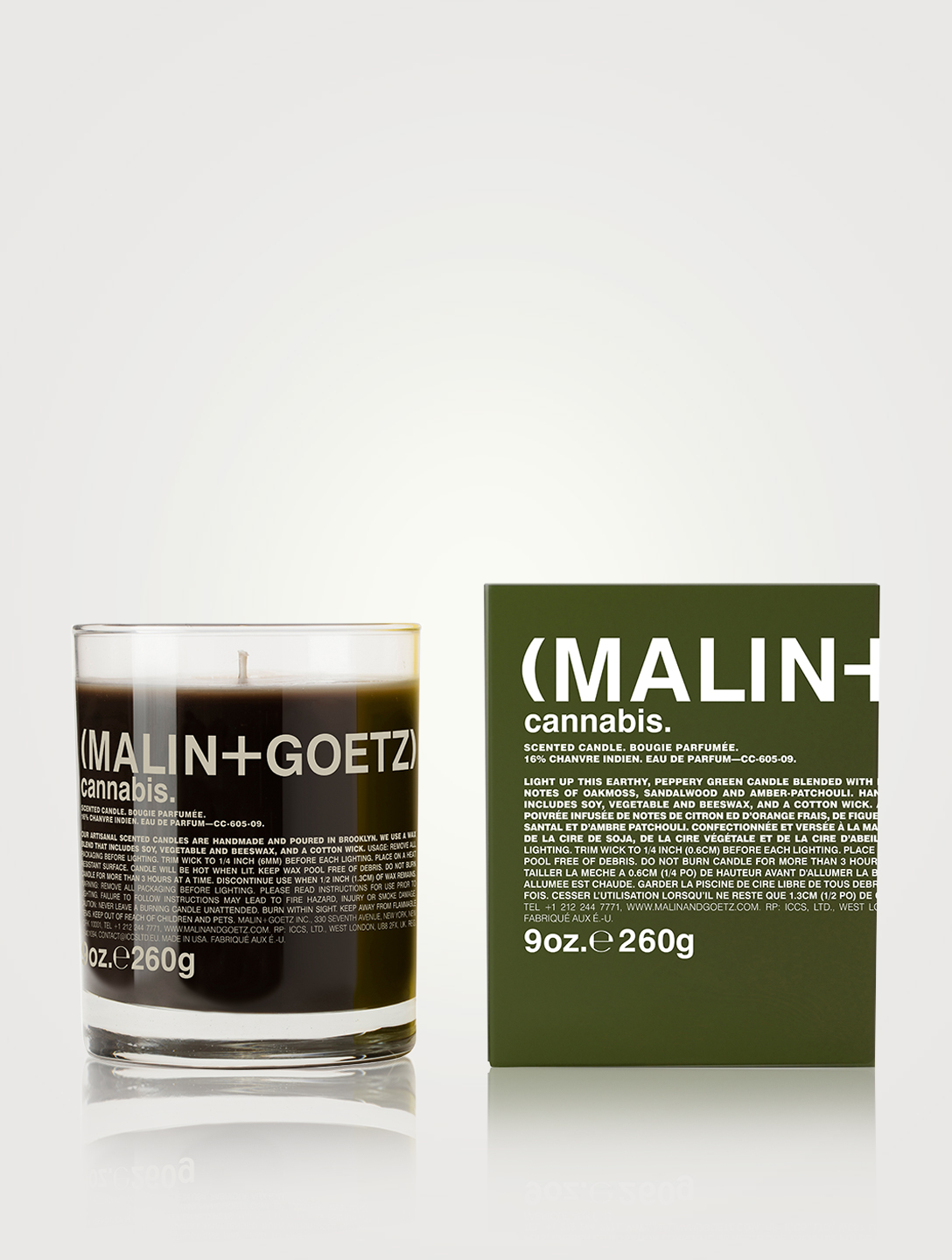 MALIN + GOETZ cannabis candle Beauty