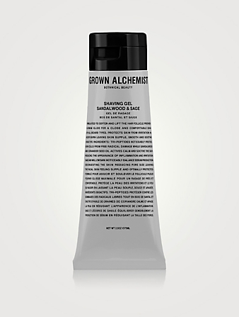 GROWN ALCHEMIST Shaving Gel: Sandalwood & Sage Beauty