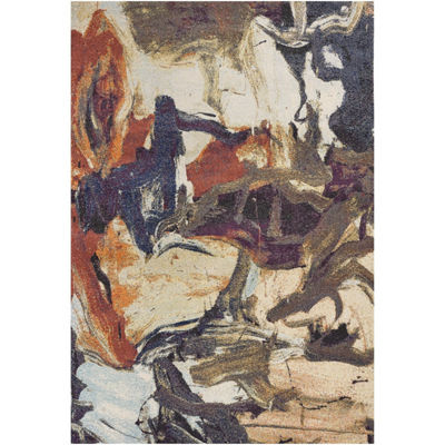 Kas Mediterra Brushstrokes Rectangular Indoor Rugs