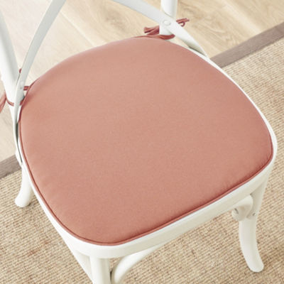 Madison Park Set of 2 Mission Solid 3M Scotchgard Indoor/Outdoor Chair Pads