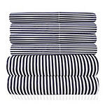Sweet Home Collection 6-Piece 1500 Thread Count Egyptian Quality Deep Pocket Bed Sheet Set Classic Stripe