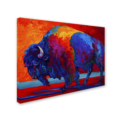Trademark Fine Art Marion Rose Abstract Bison Giclee Canvas Art