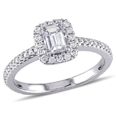 Womens 7/8 CT. T.W. Genuine White Diamond 14K White Gold Engagement Ring