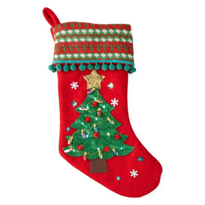 North Pole Trading Co. 20 Inch LED Tree Christmas Stocking