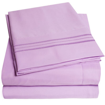 Superb 1800 Thread Count 4 Piece Sheet Set Premium Microfiber Deep Pocket Bed  Sheets