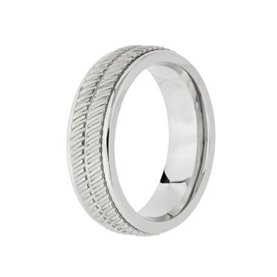 Mens 8mm Cobalt Wedding Band