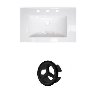 24-in. W 3H8-in. Ceramic Top Set In White Color