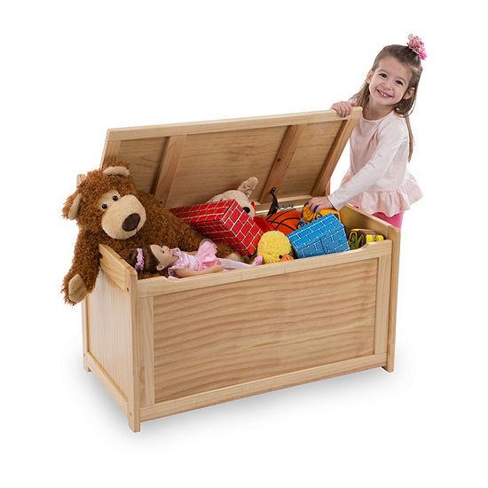Melissa & Doug Wooden Toy Chest - Honey Toy Box