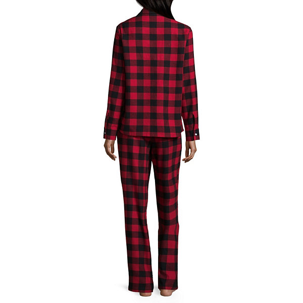 North Pole Trading Company Plaid Notch Collar Pajama Set