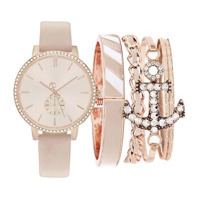 Womens Pink Bracelet Watch-St2816rg735-0aa