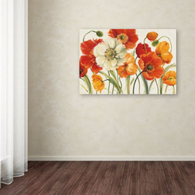 Trademark Fine Art Lisa Audit Poppies Melody I Giclee Canvas Art