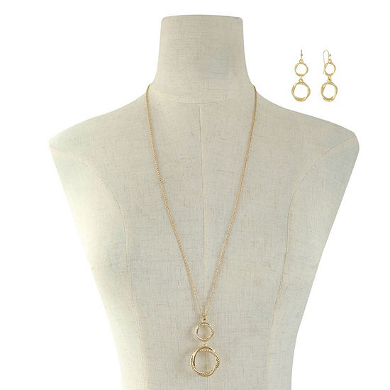 Liz Claiborne Gold Tone 2 Pc Jewelry Set