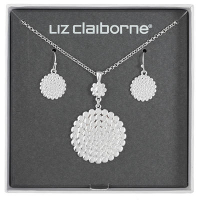 Liz Claiborne Silver Tone 2-pc. Jewelry Set
