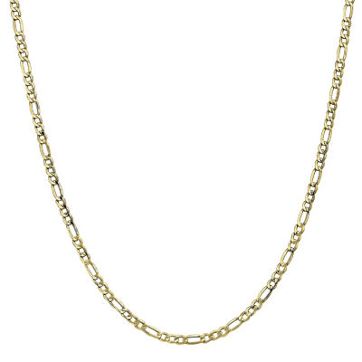 10K Gold Semisolid Figaro Chain Necklace