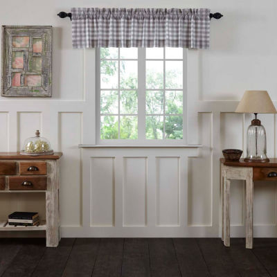 Farmhouse Window Annie Buffalo Check Lined Valance