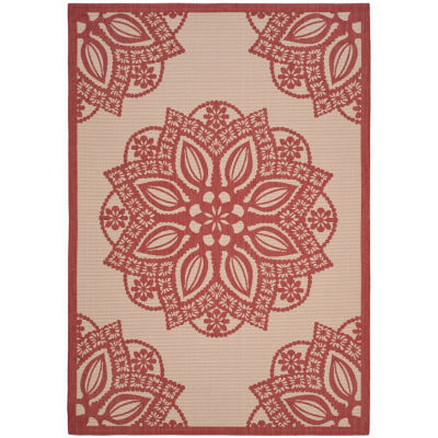 Safavieh Courtyard Collection Kimberly Oriental Indoor/Outdoor Area Rug