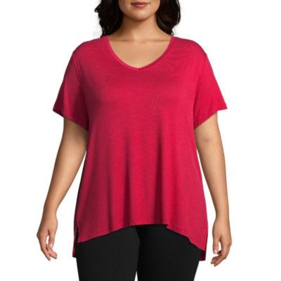 Ambrielle Knit Pajama Top- Plus