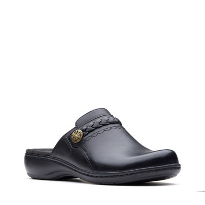 Clarks Womens Leisa Carly Clogs Slip-on Round Toe Wide Width