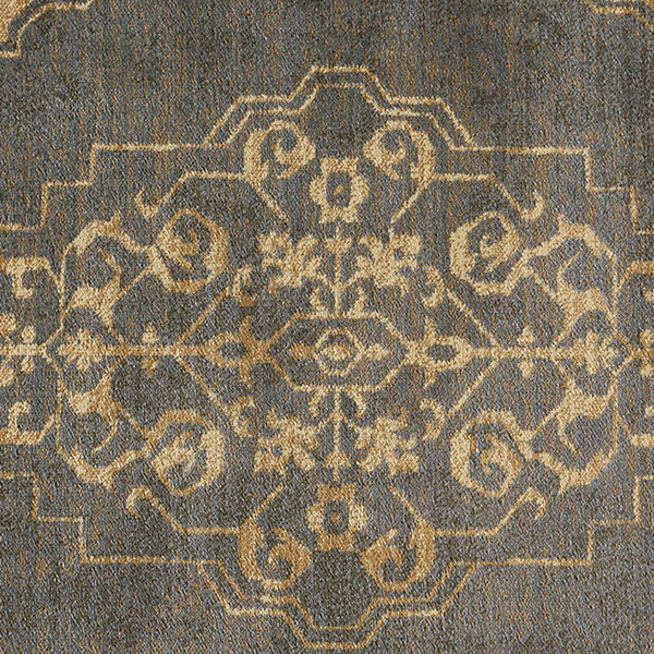 Tayse Harper Transitional Border Round Area Rug