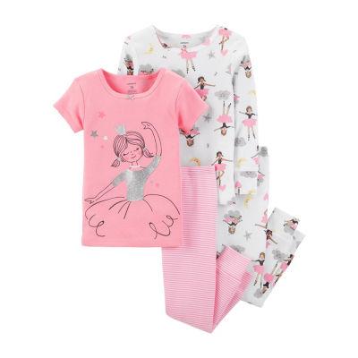 Carter's 4pc Ballerina Pajama Set -Toddler Girl
