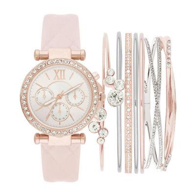 Womens Pink Bracelet Watch-St1506rg695-0aa