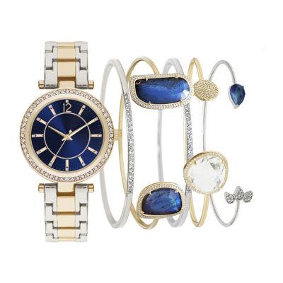 Womens Two Tone Bracelet Watch-St2817g735-165