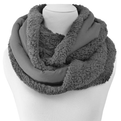 Cuddl Duds Fleece Faux Fur Reversible Infinity Scarf