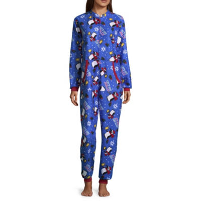Wembley Funsie Onesie Get Jolly Penguin 1 Piece Pajama -Women's
