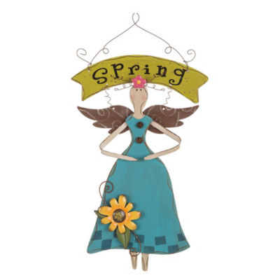 Wooden Spring Fairy Wall Decor